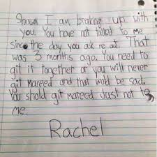 Kids Notes Little Girl Writes A Break Up Letter To Her No Good