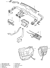 repair guides heater core removal installation autozone com exploded view of the heater housing and ventilation ducts suzuki vitara