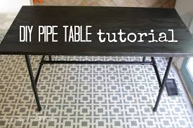 diy pipe table full tutorial by designer trapped in a lawyer s