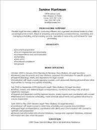 Resume Templates: Legal Secretary Resume