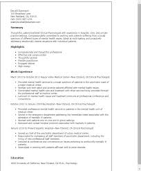 Resume Templates: Clinical Psychologist