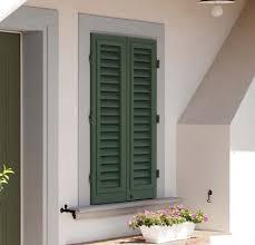 Einflügeliger Fensterladen Lamellen Aluminium Für Fenster