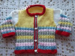 Hand Knitted Sweaters Designs For Baby Girl Hand Knitted Baby Cardigan Multi Coloured Stripes Knitted