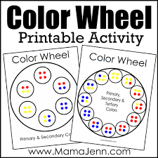 And i will print them but because i want it to. Printable Color Wheel Activity Mama Jenn