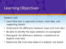 Finding Topic And Main Idea Introductory Lesson Warm Up What Do
