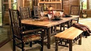 rustic dining room table set chairs with bench amazing b47 rustic