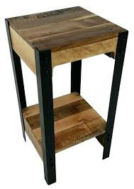 our mini reclaimed wood and steel side tables are one of best ing s it is small round wood coffee table