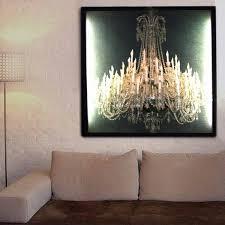 grand chandelier black glo canvas