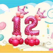 <b>13pcs</b>/<b>set</b> DIY <b>Blue and</b> Pink Children Birthday Party Digital Crown ...