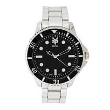 zoo york men s watches for jewelry watches jcpenney zoo york® mens silvertone and black bracelet watch