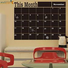Month Planner Blackboard Office Chalkboard Wall Decals