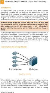 A Talari Networks White Paper Transforming Enterprise Wans