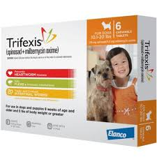 Trifexis For Dogs 10 1 20 Lbs 6 Chew Tabs