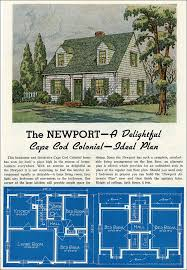 1961 Weyerhauser Home Plans  Design No 4130  Cape Cod Style Cape Cod Home Plans