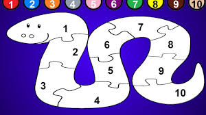 Small Picture Snake Coloring Page and Numbers 1 to 10 Snake Puzzle YouTube