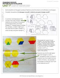 Pattern Block Fractions Simple Design Ideas
