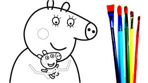 Small Picture Mummy Pig Baby Alexander A lot Of Peppa Pig Giant Coloring Pages