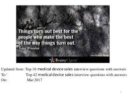 Medical Sales Interview Questions 42 Medical Device Sales Interview Questions Pdf Medical