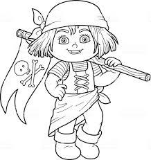 Libro Da Colorare Per Bambini E Bandiera Dei Pirati Immagini