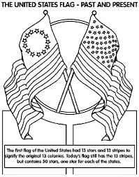 The United States Of America Flag Coloring Page Coloring