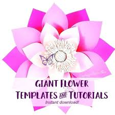 Paper Flower Template Pdf Giant Paper Flower Template Giant Paper Flower Template Pdf Free
