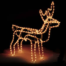 Reindeer Silhouette Lights Details About Large Christmas Reindeer Light Up Outdoor Garden Rope Decoration Silhouette