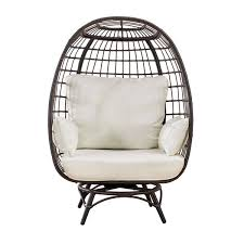 sunjoy pearl swivel patio egg chair