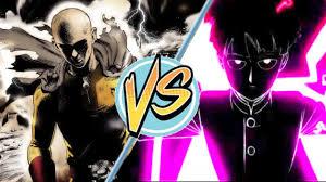 A Mo Bb Saitama Vs Mobone Punch Man Mob Psycho 100 Youtube