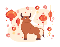 Chinese new year in 2021 falls on february 12th, being the start of the year of the ox. Free Chinese New Year 2021 Year Of The Ox Chinese Zodiac Symbol Illustration Download In Png Vector Format