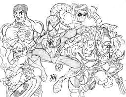 Captain america, iron man, hulk, hawkeye, thor, black widow. Avengers 74029 Superheroes Printable Coloring Pages