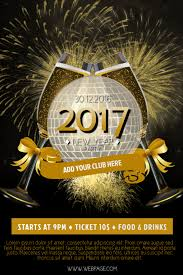 New Year Flyers Template 2017 New Year Flyer Template Postermywall