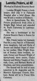 Loretta Wright Peters, Obit - Newspapers.com