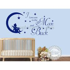 i love you to the moon and back wall sticker e baby boy girl nursery bedroom wall decor decal
