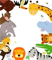 jungle animals border clipart. Simple Animals Fun Jungle Animals Border Stock Vector  42831232 To Clipart C