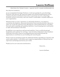 Cover Letter For Resume Tips Leading Professional Professor Cover Letter Examples Resources 49