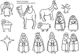 Adult Coloring Pages Of The Nativity Free In Nativity Coloring Pages
