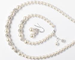 Beautiful Pearl Jewelry Set For The Bride Weddingood