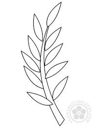 Branch Template Branch With Leaves Template Printable Flowers Templates
