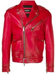 dsquared2 colour block biker jacket