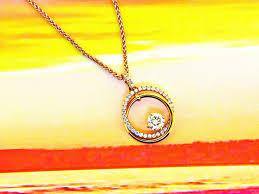 circle of love diamond pendant