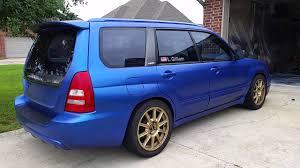 World rally blue plastidip 2004 forester XT - YouTube