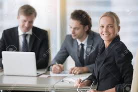 Group Of Businessmen Working Women In Business Empowering Female