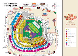 Seating Chart For Paul Mccartney Paul Mccartney Busch Stadium Seating Chart Real Life Stl