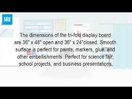 What Is The Size Of A Tri Fold Poster Board Youtube