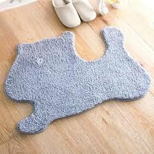 animal shaped rugs fluffy floor mat anti slip comfortable bathroom carpet animal shaped rugs for hallway animal shaped rugs