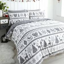 Childrens Christmas Bedding Quilts Christmas Bedspreads Quilts ... & ... Holiday Bedding Quilts Noel Snowflake Reindeer Grey White Christmas Quilt  Duvet Cover Set Christmas Comforters And ... Adamdwight.com