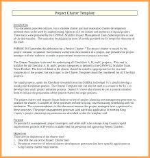 Sample Project Charter Template Project Charter Template Sample