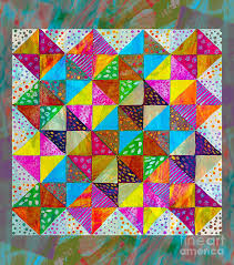 Broken Dishes Painting - Broken Dishes - Quilt Pattern - Painting 2 by  Barbara Griffin