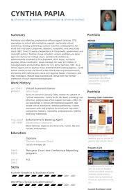 Virtual Assistant Resume Samples VisualCV Resume Samples Database