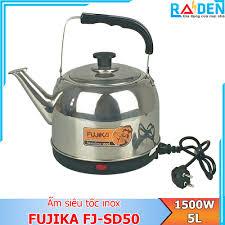 Ấm siêu tốc inox 4L/5L Fujika FJ-SD40/ FJ-SD50 thân ấm inox không hoen  rỉ-hàng chính hãng